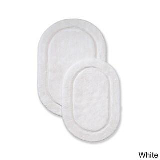 Superior Collection Luxurious Cotton Non-skid Oval Bath Rug 2-piece Set