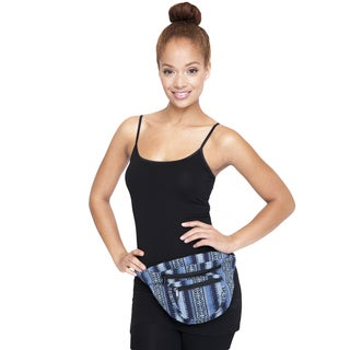Blue Tribal Pattern Cotton Fanny Pack (Nepal)