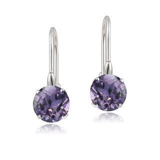 Glitzy Rocks Sterling Silver Round Gemstone or Cubic Zirconia Birthstone Earrings (More options available)