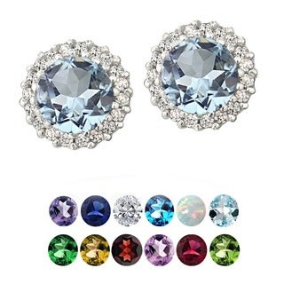 Glitzy Rocks Sterling Silver Gemstone Or Cubic Zirconia Birthstone Round Stud Earrings|https://ak1.ostkcdn.com/images/products/9378080/P16568724.jpg?_ostk_perf_=percv&impolicy=medium