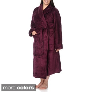 La Cera Women's Plus Size Full-length Bath Robe
