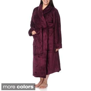 La Cera Women's Plus Size Full-length Bath Robe