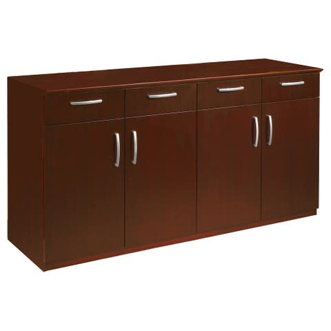Mayline Napoli Buffet with 4 Drawers, 2 Cabinets with Doors