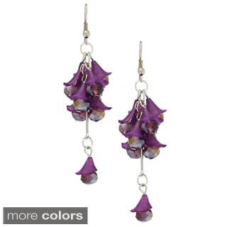 Bleek2Sheek Vine-ology Honeybell Drop Crystal Cluster Earrings