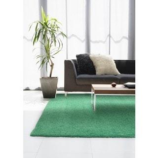 Pantone Universe Focus Shag Green Rug (3'10 x 5'5)
