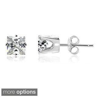 DB Designs 14k Gold Square 1/5ct TDW Diamond Stud Earrings (H-I, I2-3)