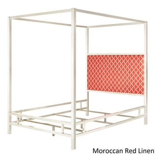 Solivita King-size Canopy Chrome Metal Poster Bed by INSPIRE Q