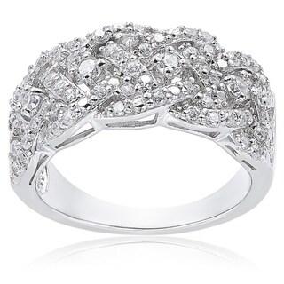Icz Stonez Sterling Silver 3/4ct TGW Cubic Zirconia Braided Ring|https://ak1.ostkcdn.com/images/products/9378488/P16568909.jpg?_ostk_perf_=percv&impolicy=medium