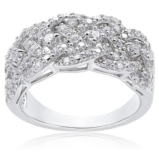 Icz Stonez Sterling Silver 3/4ct TGW Cubic Zirconia Braided Ring|https://ak1.ostkcdn.com/images/products/9378488/P16568909.jpg?impolicy=medium