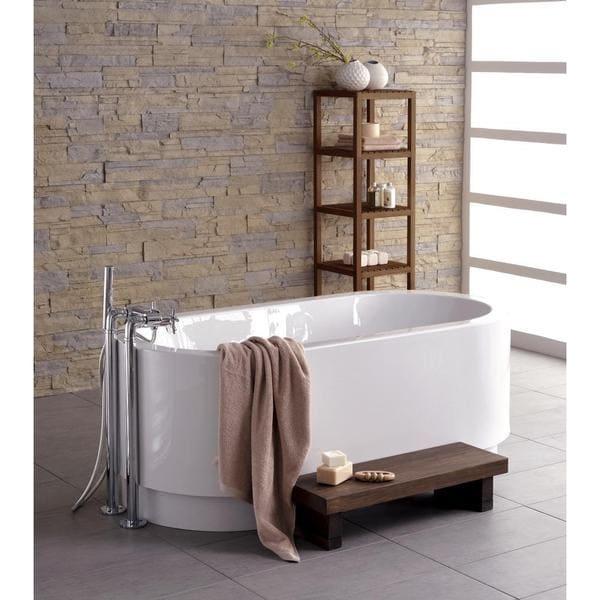Aquatica Cocoon Wood Freestanding Wood Bathtub Step