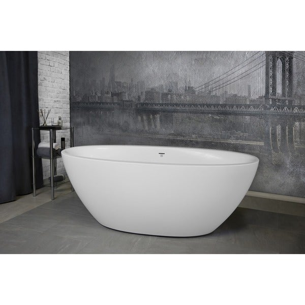 Aquatica Sensuality Mini White Solid Surface Bathtub. Opens flyout.