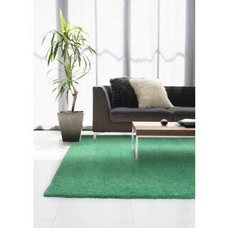 Circa Plush Shag Shag Green Rug (6'7 x 9'6)