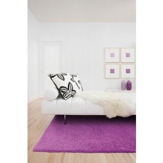 Circa Plush Shag Shag Pink Rug (6'7 x 9'6)