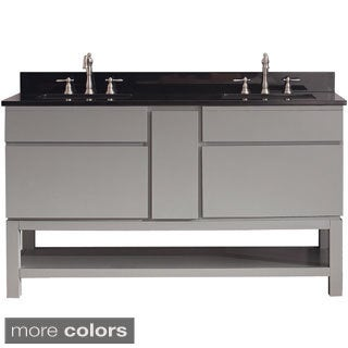 Avanity Tribeca 60-inch Chilled Grey Vanity with Base