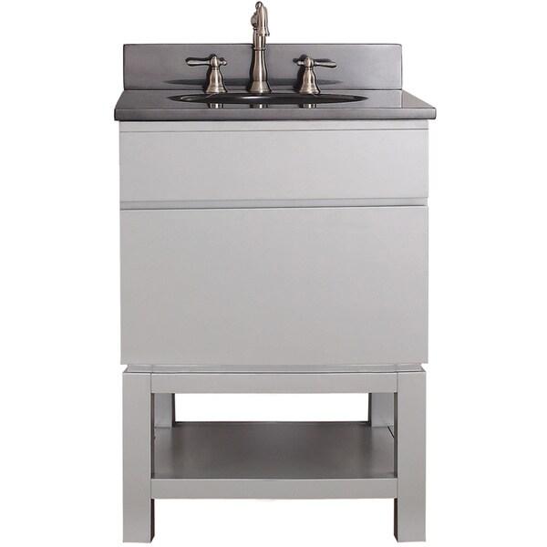 Avanity Tribeca 24-inch Chilled Grey Vanity with Base