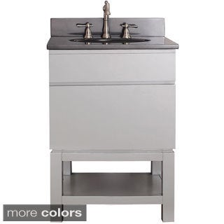 Avanity Tribeca 24-inch Chilled Grey Vanity with Base