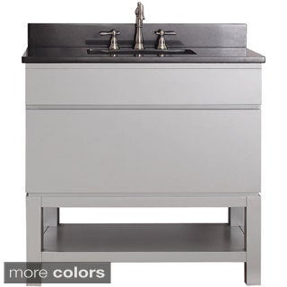 Avanity Tribeca 36-inch Chilled Grey Vanity with Base