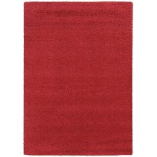 Circa Plush Shag Shag Red Rug (9'10 x 12'10)