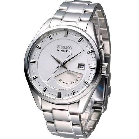 Seiko Men's Kinetic White Watch