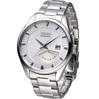 Seiko Men's SRN043P1 Kinetic White Watch