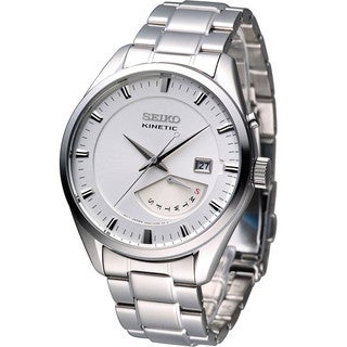 Seiko Men's SRN043P1 Kinetic White Watch