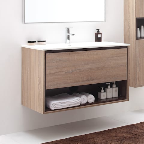 Avanity Sonoma 39-inch Vanity Combo with Vitreous China Top and Integrated Sink