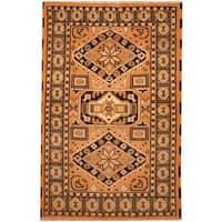 Handmade Herat Oriental Indo Kazak Wool Rug  - 3' x 5' (India)
