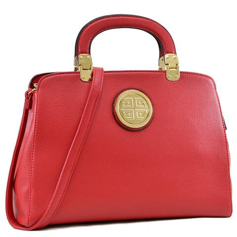 Dasein Metal Emblem Hinge-handle Tapered Briefcase