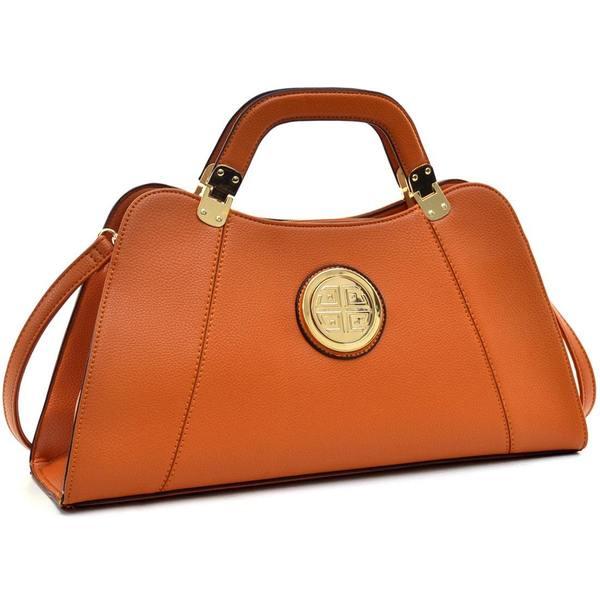 736072d54896 Shop Dasein Emblem Structured Satchel Bag - On Sale - Free Shipping ...
