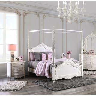 Furniture of America Talia Pearl White 2-Piece Canopy Bed Set https://ak1.ostkcdn.com/images/products/9378660/P16569034.jpg?impolicy=medium