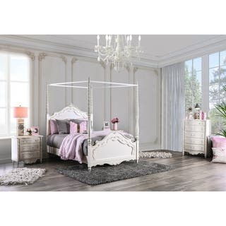 Furniture of America Talia Pearl White 3-Piece Canopy Bed Set https://ak1.ostkcdn.com/images/products/9378662/P16569035.jpg?impolicy=medium