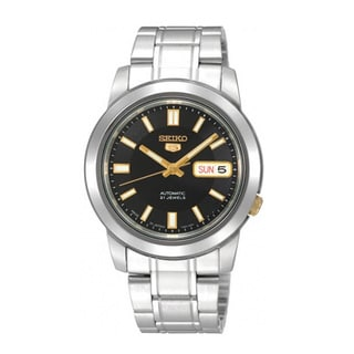 Seiko Men's 5 Stainless Steel SNKK17 Black Watch