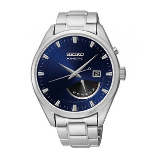 Seiko Men's Stainless Steel SRN047P1 Kinetic Blue Dial Watch