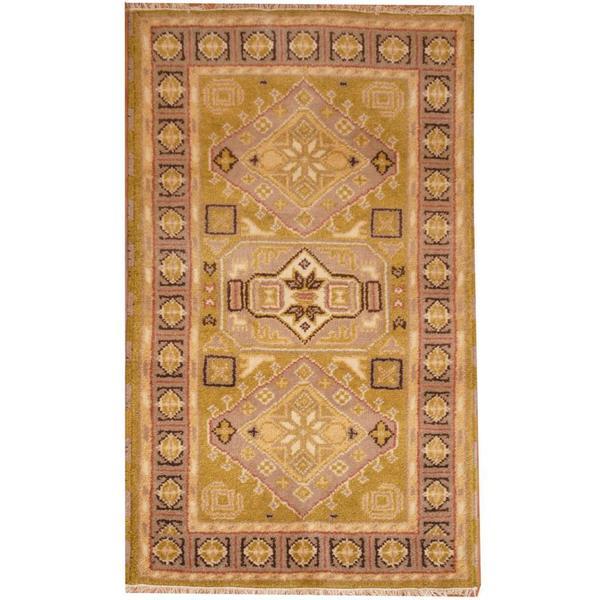 Handmade Herat Oriental Indo Kazak Wool Rug (India) - 3' x 5'