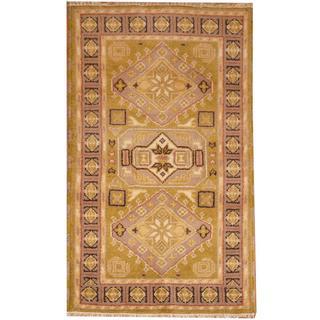 Herat Oriental Indo Hand-knotted Kazak Wool Rug (3' x 5') - 3' x 5'