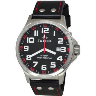 TW Steel Men's Stainless Steel TW411 Pilot Black Watch