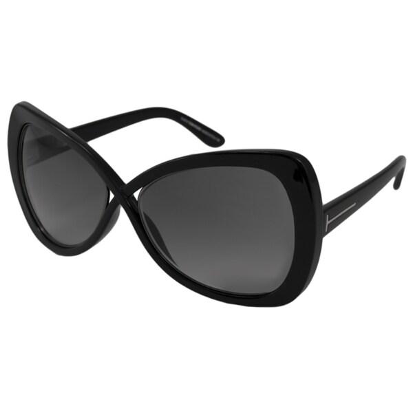 Tom Ford Women's 'Jade FT0277 01B' Cross-over Butterfly Sunglasses