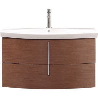 Avanity Siena 36 inch Single Sink Chestnut Vanity. Fresca Medio Teak Bathroom Vanity with Medicine Cabinet   Free