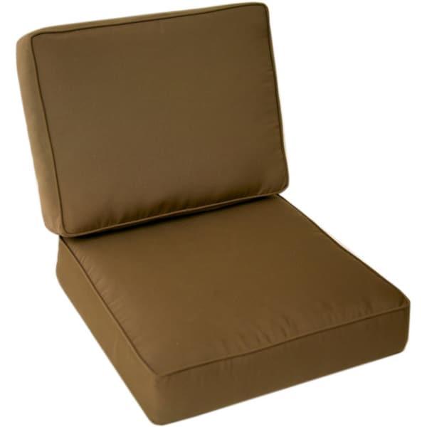 Trijaya Living Sunbrella Universal Patio Club Chair Cushion Cocoa