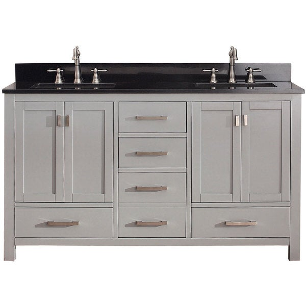 Shop Avanity Modero 60 Inch Chilled Grey Double Vanity Combo Free Shipping Today Overstock