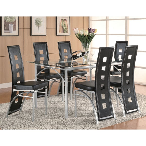 Coaster Company Los Feliz Matte Silver Dining Table