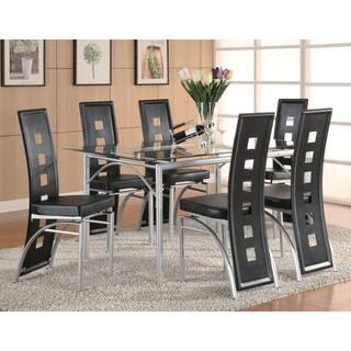 Coaster Company Los Feliz Matte Silver Dining Table