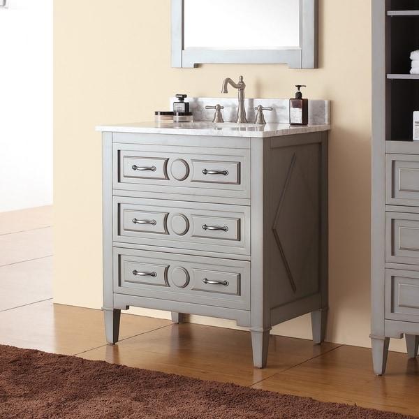 Shop Avanity Kelly 30-inch Vanity Combo in Grayish Blue ...
