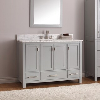 Avanity Modero 49-inch Vanity Combo in Chilled Grey with Top and Sink