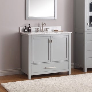 Avanity Modero 37-inch Vanity Combo in Chilled Gray with Top and Sink