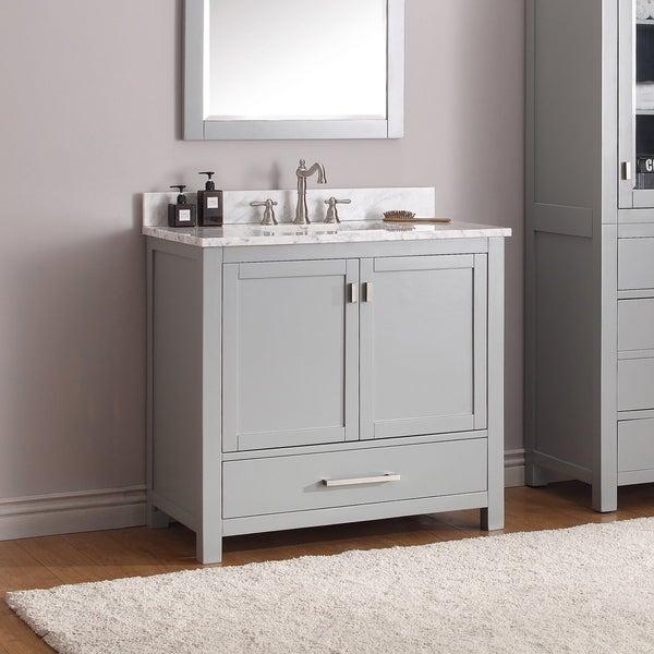 Shop Avanity Modero 37-inch Vanity Combo in Chilled Gray ...