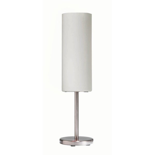 Single-light Satin Chrome Table Lamp