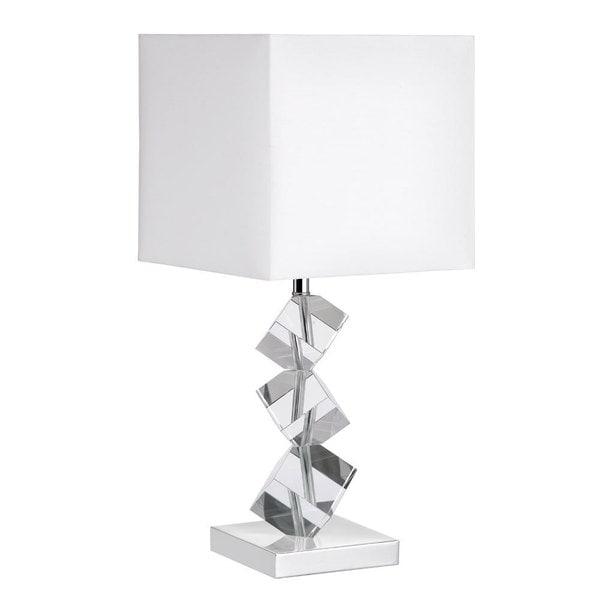 Dainolite Crystal Cube Table Lamp
