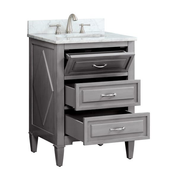 Shop Avanity Kelly 24 Inch Vanity Combo In Grayish Blue With