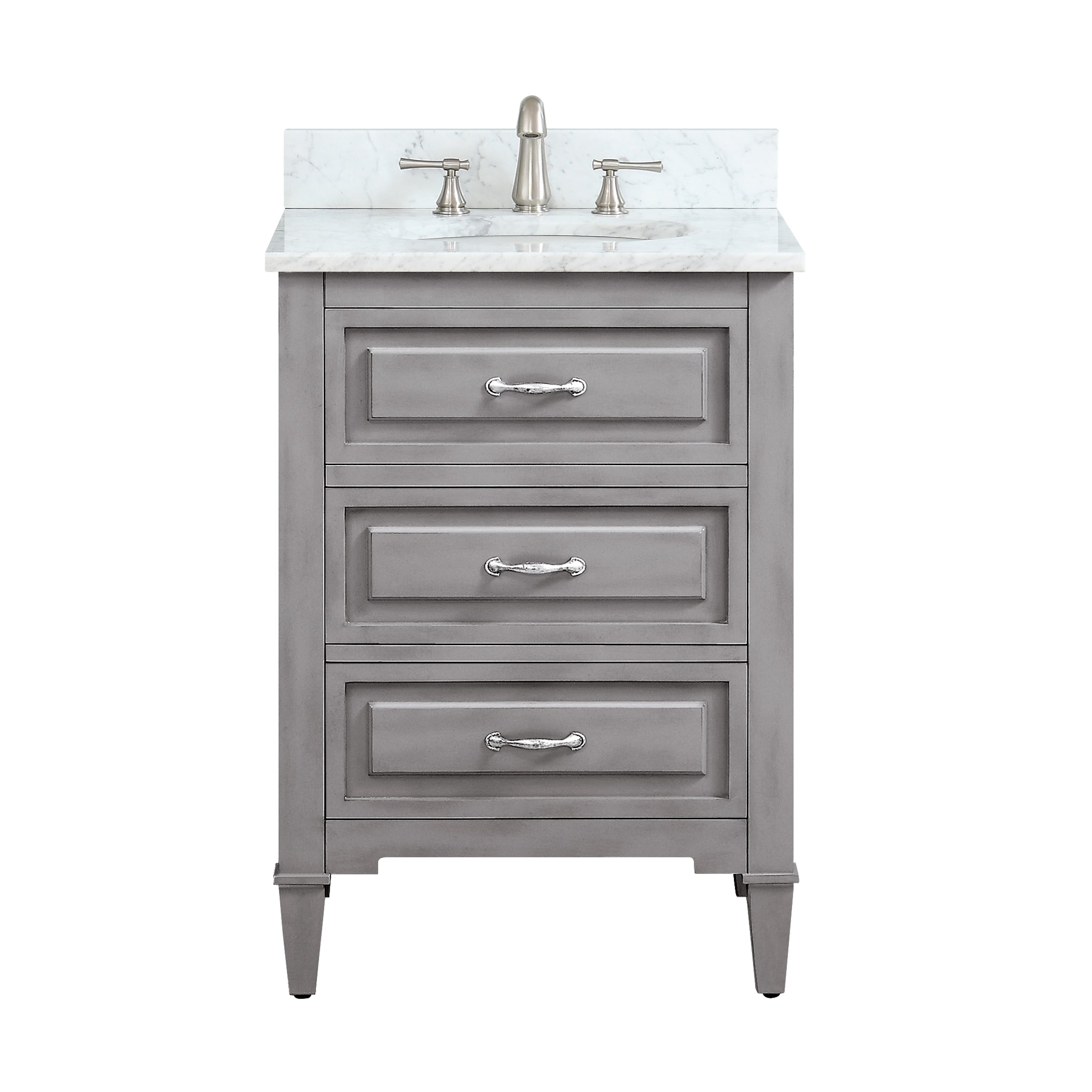 Avanity Kelly 24 Inch Vanity Combo In Grayish Blue With Top And Sink